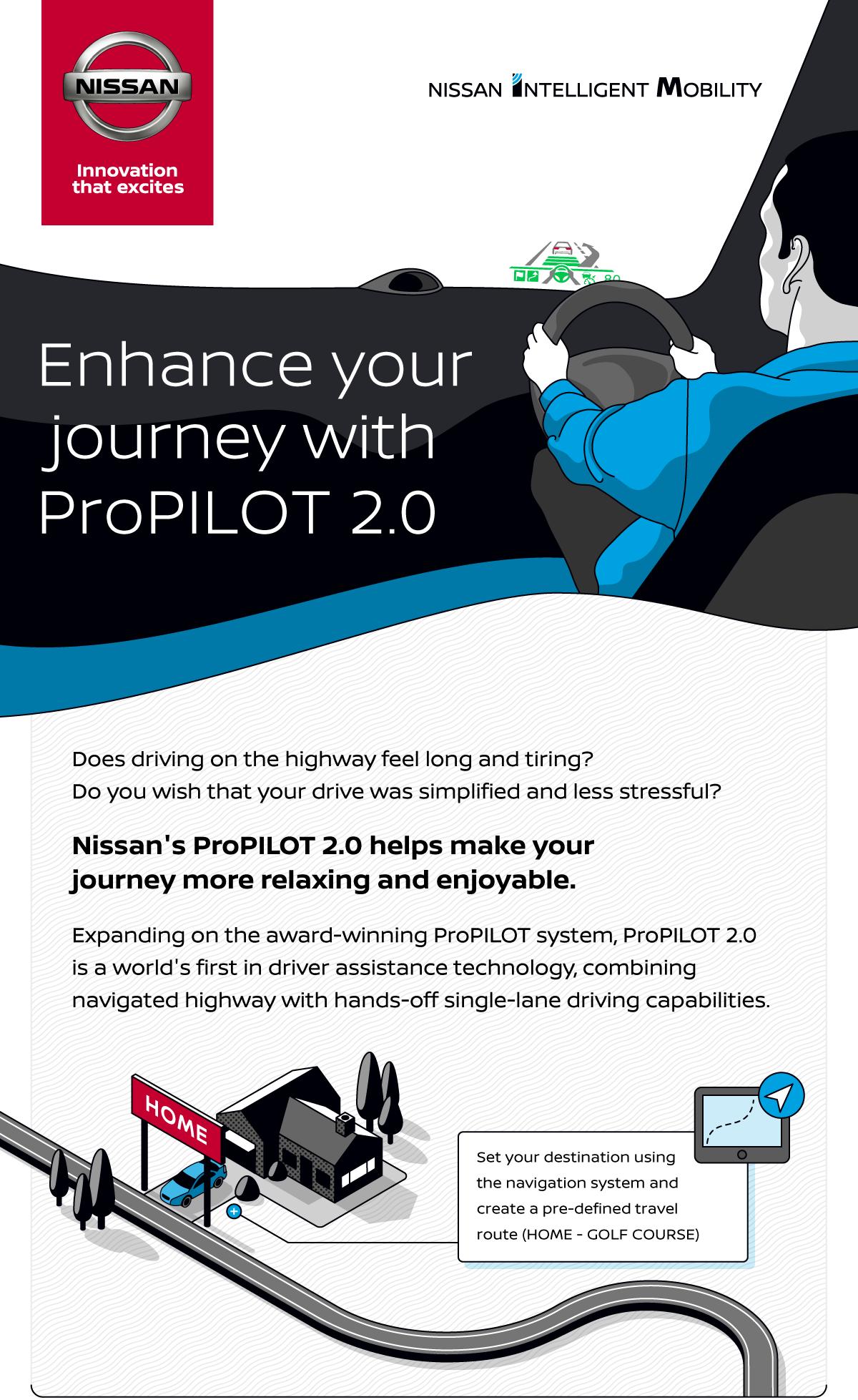 Nissan ProPilot 2.0 Infographic | Nissan | Makemark